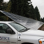 Tice truck and solar panel